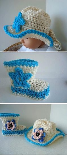 Crochet Cowboy Hat and Boots