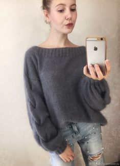 Sweatshirts and sweaters handmade. Mohair sweater- Кофты и свитера &; Sweatshirts and sweaters handmade. Mohair sweater- Кофты и свитера &; Knitt Knitttt Sweatshirts and sweaters handmade. Loose Knit Sweaters, Hand Knitted Sweaters, Mohair Sweater, Knitted Poncho, Handgestrickte Pullover, Knit Fashion, Lana, Sweaters For Women, Clothes
