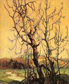 Franklin Carmichael, Canadian Spring, Group of Seven Group Of Seven Artists, Group Of Seven Paintings, Maurice Denis, Paul Cézanne, Edouard Vuillard, Canadian Painters, Canadian Artists, Paul Gauguin, Henri Matisse