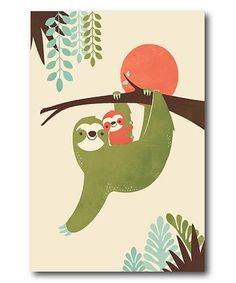 Love this Mama Sloth Canvas on #zulily! #zulilyfinds