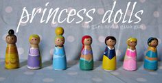 A girl and a glue gun: DIY princess peg dolls