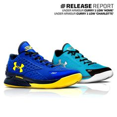 The first-ever Under Armour Charged Foam Curry 1 Low is here. Which charged color will you cop?