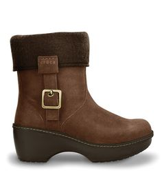 Take a look at this Espresso Crocs Cobbler Ankle Boot - Women by Blow-Out on #zulily today!