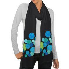 Black Cotton Jersey Scarf: Blue, Green Pattern: up to £18.95 - http://www.zazzle.co.uk/black_cotton_jersey_scarf_blue_green_pattern-256198850794912196?rf=238041988035411422