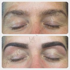 HD Brows before & after MASTER Stylist by Emma Willcock.