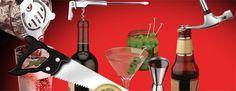 Bar Tools Kit Case: El regalo perfecto para tu handyman favorito. Todas las herramientas de bar que necesitas para ser el rey de la fiesta y las herramientas mas importantes para arreglar casi todo en la casa.