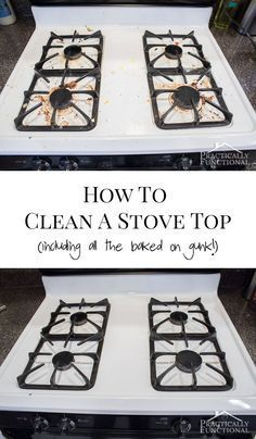 How To Really Clean A Stove Top - looks brand new again with just two common…