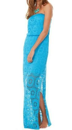 Lilly Pulitzer Emmett Strapless Maxi Dress....I want this for summer!!!!!!