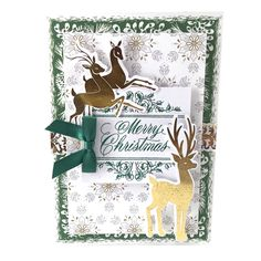 Anna Griffin White Christmas Cards and Layers: