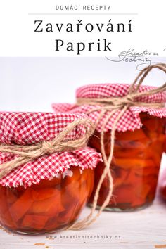 Home Canning, Recipes, Food, Red Peppers, Canning, Essen, Meals, Ripped Recipes, Eten