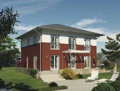 CityLife 400 - #Einfamilienhaus von WeberHaus GmbH & Co. KG | HausXXL #Stadthaus #Fertighaus  #modern #Zeltdach