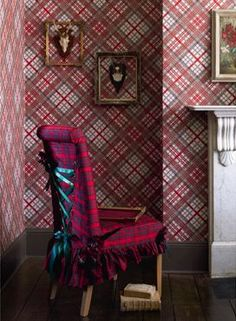 "Vivienne Westwood wallpaper. And the ""corset-backed"" chair"
