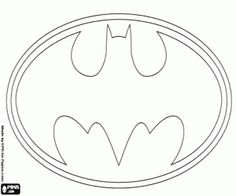 The Famous Logo Of Batman Bat Coloring Page Printable Game