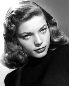 Born on this date: One of the most glamorous and beautiful stars of the classic era and one half of everyone's favorite old Hollywood couple, Lauren Bacall (September Hollywood Actor, Golden Age Of Hollywood, Vintage Hollywood, Hollywood Stars, Classic Hollywood, Hollywood Divas, Classic Beauty, Timeless Beauty, Bogie And Bacall