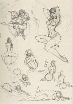Cadernos :: do J. Scott Campbell A Ruff Coisas Sketchbook Volume # 1 (Assinado)