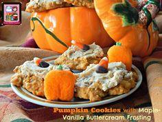 Kandy's Kitchen Kreations: Pumpkin Cookies with Maple-Vanilla Buttercream Fro...