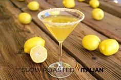 Lemon Cream Pie Martini This Lemon Cream Pie Martini is truly like the dessert in a cocktail.  It is lemony, smooth, and has the fantastic creaminess that the Whipped vodka provides.  The rim is covered in graham cracker for even more flavor.