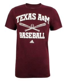 Texas A M Aggies Adidas Men s Go To Short Sleeve Baseball T-Shirt. Maroon U 62540d2de