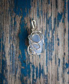 Blue Lace Agate Wire Wrapped Pendant by MoonGypsyRose on Etsy