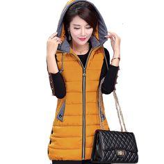 2017 nuevas mujeres de la moda de invierno con capucha chaqueta femenina más del tamaño grande 4XL 5XL cálido chaleco señoras chaleco colete feminina capa | 32818165112_es