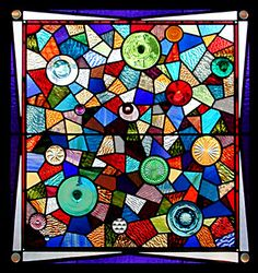 The Candy Corn Chronicles: Recycled Stained Glass
