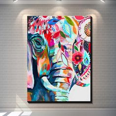 Vintage abstract elephant creative posters painting pictures print on the canvas,Home Wall art decoration retro animal canvas painting poste Acrylic Painting Canvas, Canvas Art, Elephant Canvas Painting, Elephant Paintings, Canvas Quotes, Painting Art, Elephant Art, Creative Posters, Online Painting