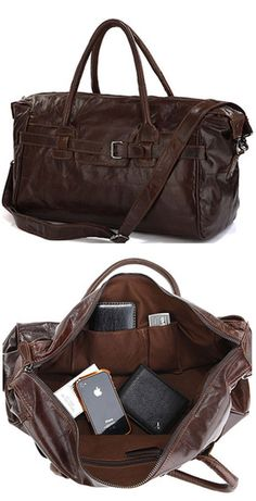 Large leather travel bag | www.gooverseas.com | Intern, Teach, Volunteer, Study Abroad | Make your dreams a reality!