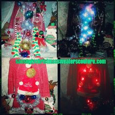 Santas Suck Up Light up ugly Christmas sweater AND partially edible!  sacsUGLYsweaterCO on etsy  or sacsuglychristmassweaterscouture.com