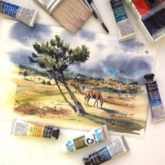 "2,373 Likes, 5 Comments - Watercolor illustrations 🎨 (@watercolor.illustrations) on Instagram: ""🎨 Watercolorist: @jullitka  #waterblog #акварель #aquarelle #painting #drawing #art #artist…"""