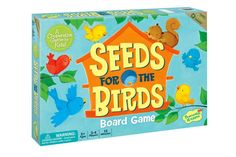 From the publisher: Seeds for the Birds - A Helping Game that's as easy as 1-2-3! Uh-oh! The baby birds are hungry. Players help Mama Bird feed her little babies by turning over cards one at a time and gathering seeds. But watch out! The squirrel likes seeds too and sometimes he takes them for himself. Gather more seeds for the birds than the squirrel and everyone wins! Turn over a card. Is it a bird, a seed or the little squirrel? If it's a seed card, place that number of seeds on a...