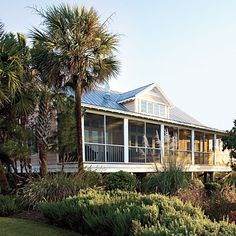 The Cottages on Charleston Harbor, Charleston, SC | These crisp waterfront cabins let you soak up the rustic beauty of the Lowcountry without straying too far from the action downtown. | SouthernLiving.com
