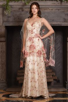 Colured wedding dress from 'The Four Seasons' - a new couture bridal fashion collection for 2017 by Claire Pettibone.