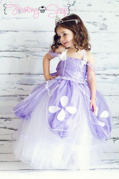 Sofia The First Tutu Dress Costume by FrostingShop on Etsy, $100.00