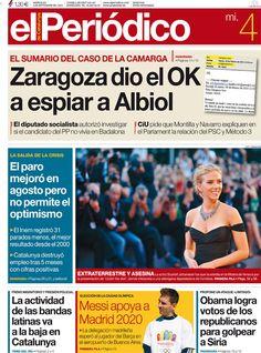 Los Titulares y Portadas de Noticias Destacadas Españolas del 4 de Septiembre de 2013 del Diario El Periódico ¿Que le pareció esta Portada de este Diario Español?
