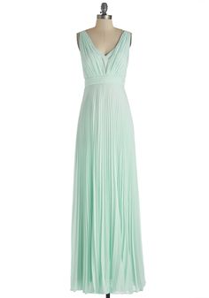 Gorgeous in the Gazebo Dress. Swaying in the starlight with your sweetie becomes more magical with this mint maxi dress floating around you!