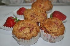 Whole Wheat Strawberry Muffin