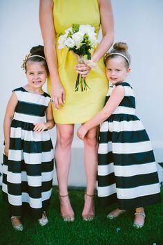 Adorable Striped Flower Girl Dresses