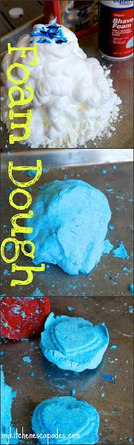 Foam Dough:  soft, silky and so different than play-dough!
