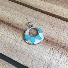 Vintage Zuni Charm Turquoise Mother of Pearl Sterling Silver Signed ELB  https://www.etsy.com/listing/262462462/vintage-zuni-pendant-charm-turquoise?utm_source=socialpilotco&utm_medium=api&utm_campaign=api  #jewelry #necklace