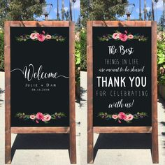 This beautiful Bienvenidos A Nuestra Boda Sign rustic sandwich board is perfect for any Outdoor or Indoor wedding! It is all hand crafted and hand painted with permanent chalk marker and acrylic paints. Shown: 36 x 18 Honey Frame This listing is for a dou Elegant Wedding, Dream Wedding, Wedding Day, Wedding Venues, Romantic Weddings, Spring Wedding, Wedding Ceremonies, Vintage Weddings, Wedding Vows