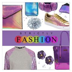 """""""Holographic"""" by eternal-collection on Polyvore featuring Rebecca Minkoff, Nicole Lee, Topshop, Puma and Mohzy"""
