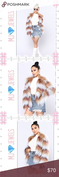 🎀New 🎀Such A Show Off Faux Fur Jacket Multi 🎀Faux Fur🎀 🎀Oversized🎀 🎀Long Hair Faux Fur🎀 🎀Pockets🎀 🎀Self: 80% Acrylic 20% Polyester🎀 🎀Lining: 100% Polyester🎀 Fashion Nova Jackets & Coats