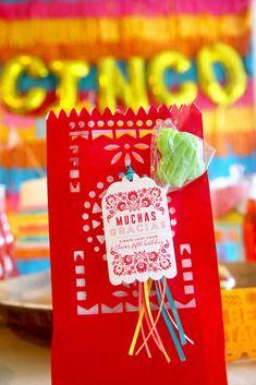 "Party Favor from Cinco ""en"" Mayo 5th Birthday Fiesta | Kara's Party Ideas"