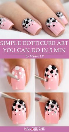 Quick Guide to 15 Stylish Yet Simple Nail Designs ★ nail art tips | polka dot nail designs | nail art tutorials | #polkadots | #nails | #mani