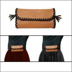 Pochette ceinture cuir pour femme - Etui lunettes cuir pour ceinture -  Pochette cuir camel et noir 20f31b34b78