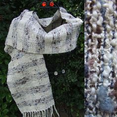 Cream Tweed Check Handwoven Scarf Scarves, Wraps & Accessories - The Crafty Cailín