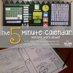 Get a smooth start to your day with The 5 Minute Calendar Morning Work Binder.   CCSS-aligned, includes 193+ daily student pages, training pages, calendar wall pieces, and a Weather Workbook.