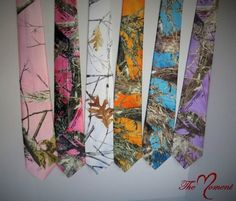 These men's Camo neck ties are made to match the camo wedding sets and accessories. There are also other colors available upon request. For multiple tie orders, please let me know ahead of time so tha