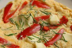 Open faced red pepper omelette; slimiming world friendly