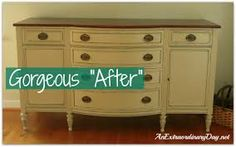 Image result for chalk painted french provincial sideboard